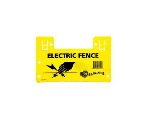 Gallagher electrtic fence warning sign