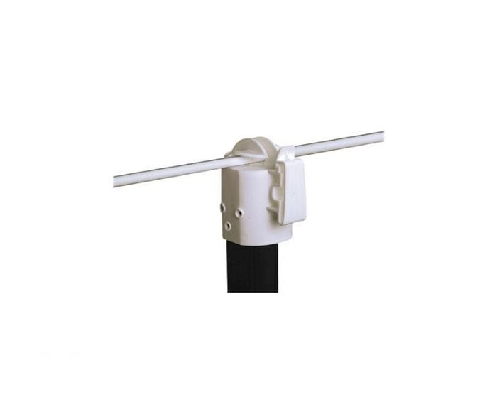 Steel Post Cap White